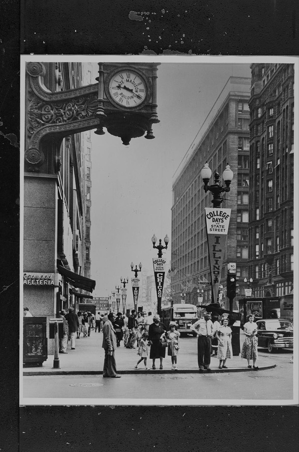 State Street north from Madison Street, with banners for College Days