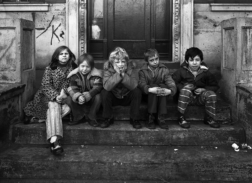 "Uptown Kids - By Eric Futran - Futran says: ""This street portrait was shot in Uptown for a project of mine in David Avison's view camera class at Columbia. I spent a lot of time schlepping a  four-by-five  around Uptown. Sometimes you just get lucky."""
