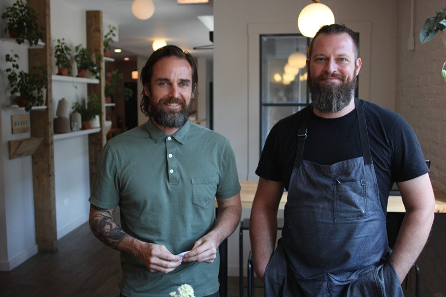 Owner Chris Pappas and chef Greg Bastien of the Winchester. - MICHAEL GEBERT