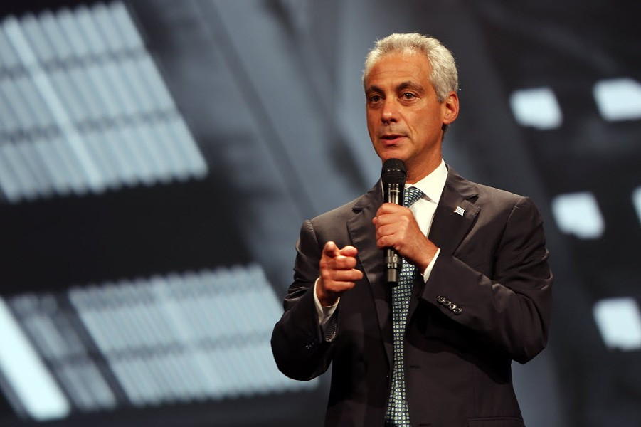 Mayor Rahm will take your questions now—just not the tough ones. - TASOS KATOPODIS/GETTY