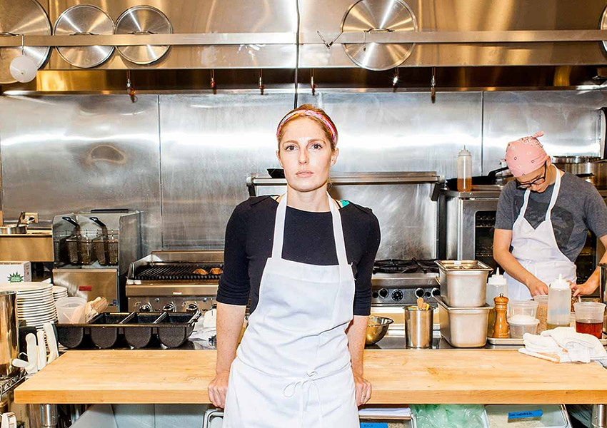 Abra Berens in the kitchen at Local Foods' cafe, Stock - NICK MURWAY