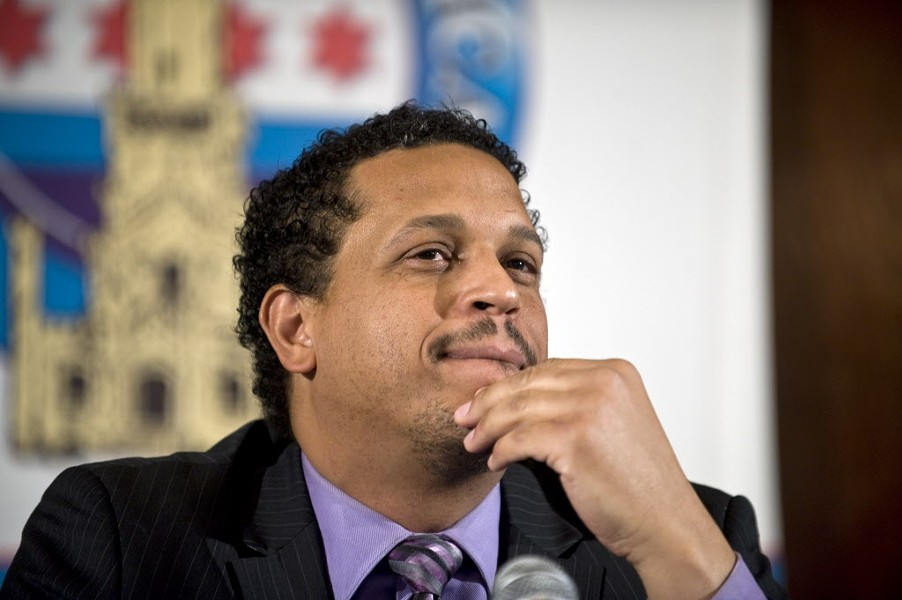 Elementary school principal Troy LaRaviere has been one of Emanuel's most vocal critics. - SUN-TIMES
