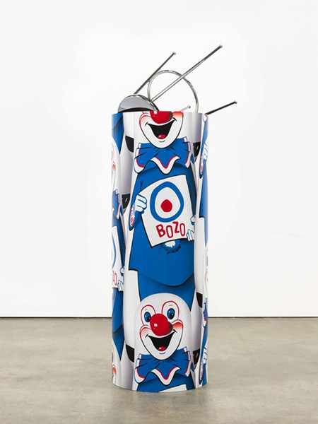 """Kathryn Andrews, """"Bozo™ The World's Most Famous Clown"""" Bop Bag with Occasional Performance (Blue Variation), 2014 - PHOTO: FREDRIK NILSEN COURTESY OF DAVID KORDANSKY GALLERY, LOS ANGELES"""