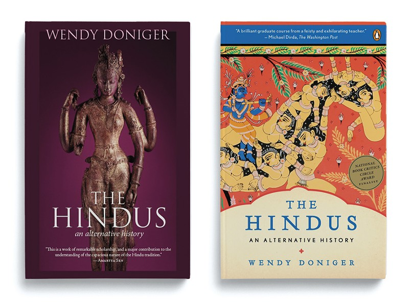 The original cover for Doniger's book, right, was racier than the new version, left. - SPEAKING TIGER/PENGUIN BOOKS INDIA