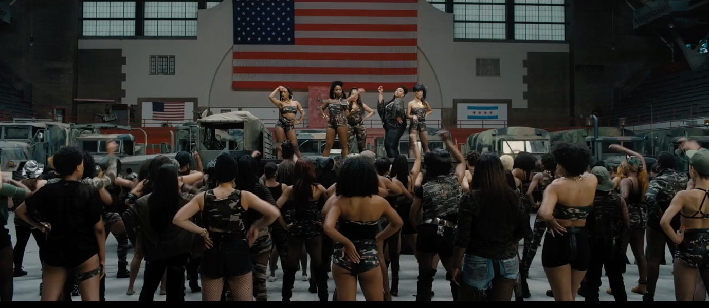 A scene from Spike Lee's Chi-Raq. If black life in Chicago must be compared to a war zone, let's at least point to the right war. - 40 ACRES AND A MULE FILMWORKS