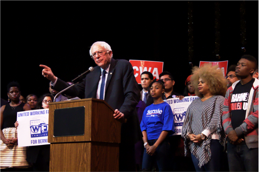 Presidential hopeful Bernie Sanders spoke to an audience of supporters in Chicago Wednesday. - MANNY RAMOS