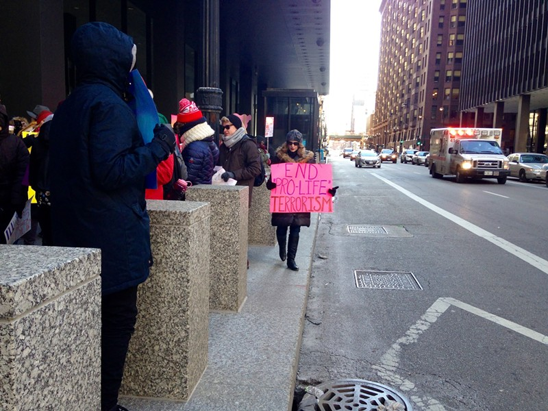 """Among the chants by the pro-choice protesters: """"Pro life? You're a killer! Just remember Dr. Tiller!"""" - AIMEE LEVITT"""
