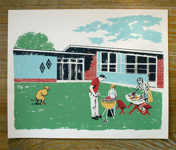 Ryan Duggan, Labor Day BBQ (With Shitting Dog) - COURTESY THE ARTIST