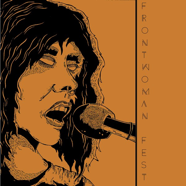 Kriss Stress's cover art for this year's Frontwoman Fest mixtape