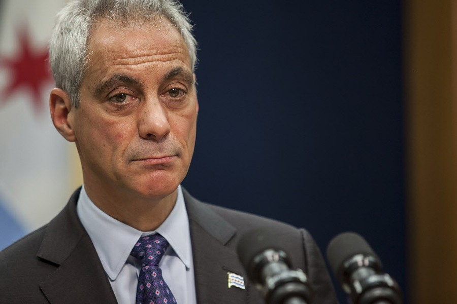Mayor Rahm Emanuel announces the resignation of police superintendent Garry McCarthy and the creation of his Task Force on Police Accountability in December  2015. - ASHLEE REZIN/FOR THE SUN-TIMES
