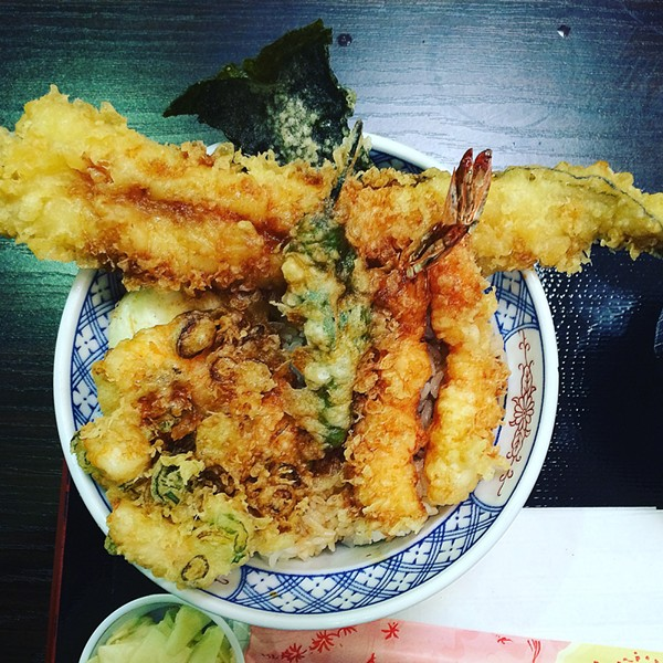 Edomae tendon at Hannosuke inside Mitsuwa Marketplace - MIKE SULA