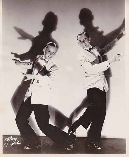 Bob Fosse (left) and Charles Grass as the Riff Brothers, 1943 - COURTESY OF CDHP'S CHARLES GRASS COLLECTION