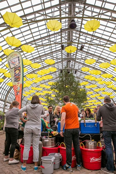 Get your drink on while surrounded by Garfield Park Conservatory flora at Beer Under Glass. - COURTESY OF CHICAGO CRAFT BEER WEEK