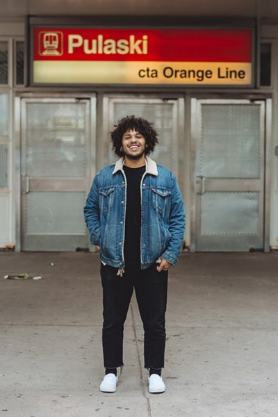 Joey Purp started taking the Orange Line from Pulaski in elementary school. - CORY POPP