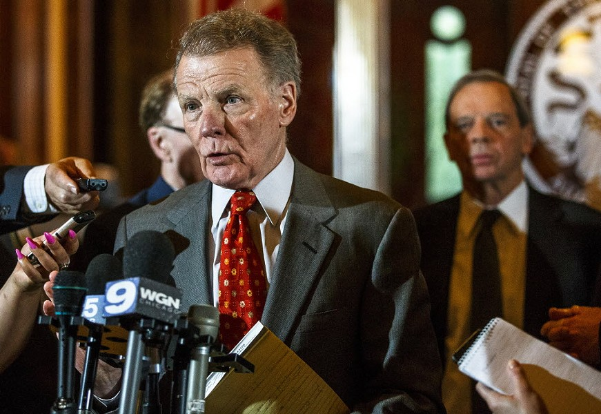 Illinois house speaker Michael Madigan answers questions during a press conference on the final day of the spring legislative session. - JUSTIN L. FOWLER/THE STATE JOURNAL-REGISTER VIA AP