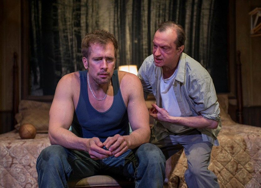 Cox (left) and Larry Neumann Jr. in In God's Hat - MICHAEL BROSILOW