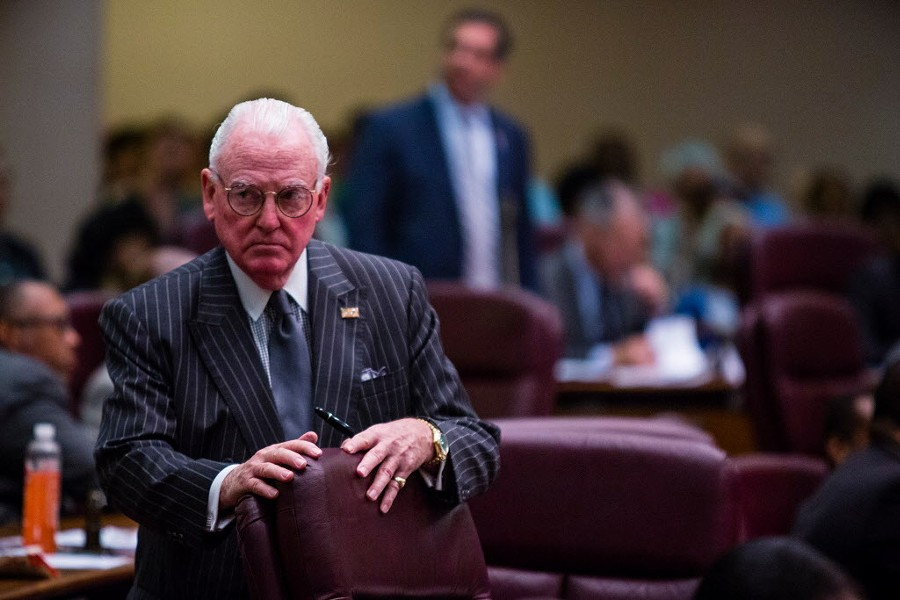 Fourteenth Ward alderman Edward Burke at the Chicago city council meeting in late June. - JAMES FOSTER/FOR THE SUN-TIMES