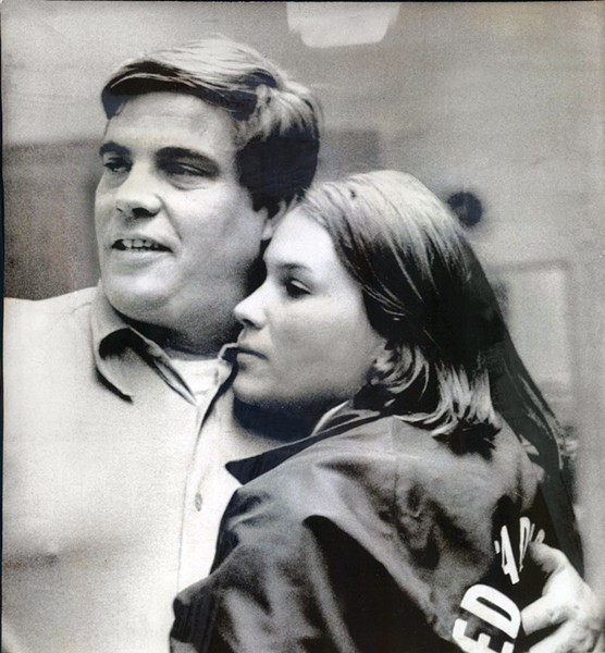 Ed Sadlowski with Sue, then 17, during his run for president of the national steelworkers' union in 1977. - SUN-TIMES PRINT COLLECTION