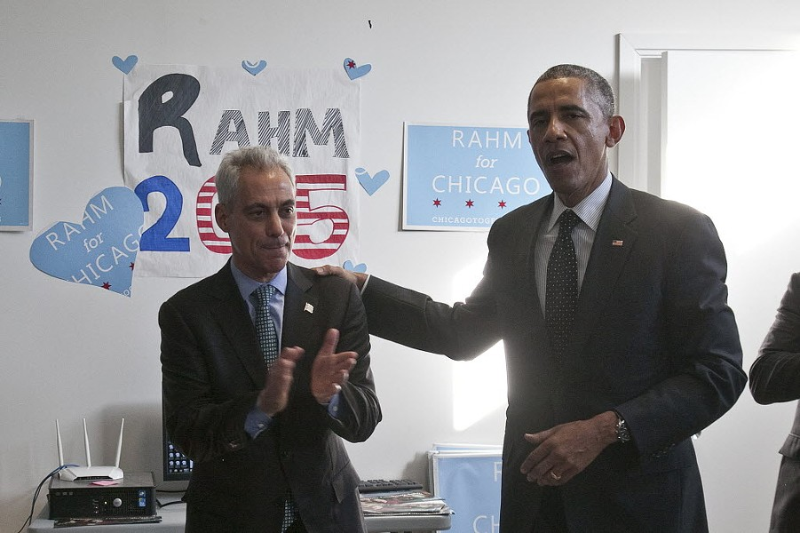 President Barack Obama and Mayor Rahm Emanuel in 2015 - ASHLEE REZIN/FOR SUN-TIMES MEDIA