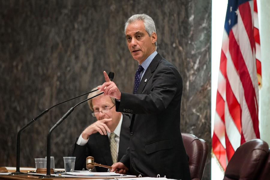 Mayor Rahm Emanuel presiding over a special meeting of the Chicago City Council - SANTIAGO COVARRUBIAS/SUN-TIMES