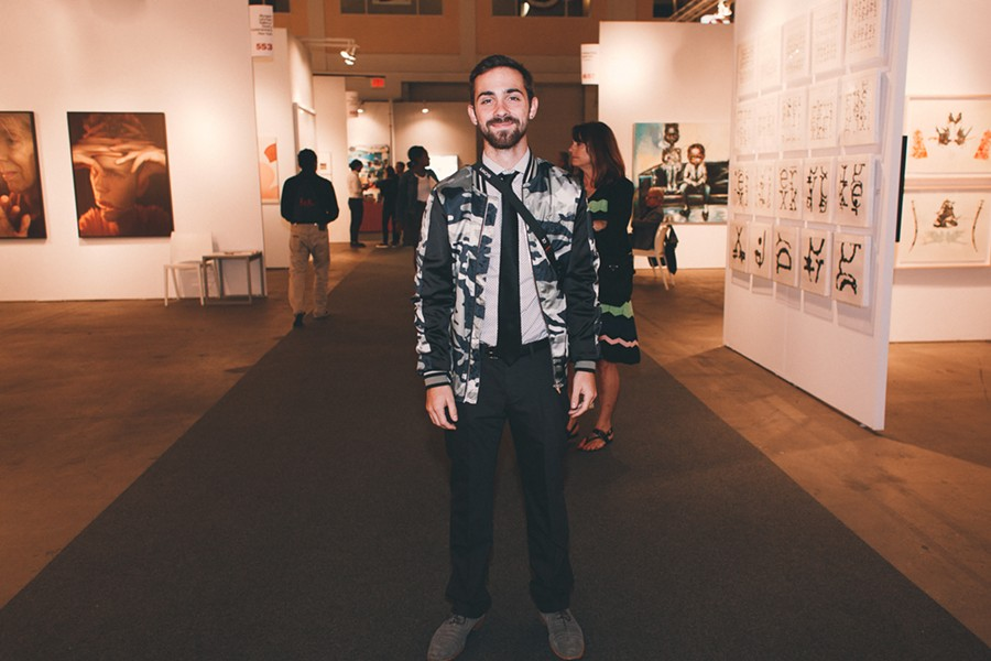 Jacob O'Leary in a camo jacket that stood out from the crowd - DANIELLE A. SCRUGGS