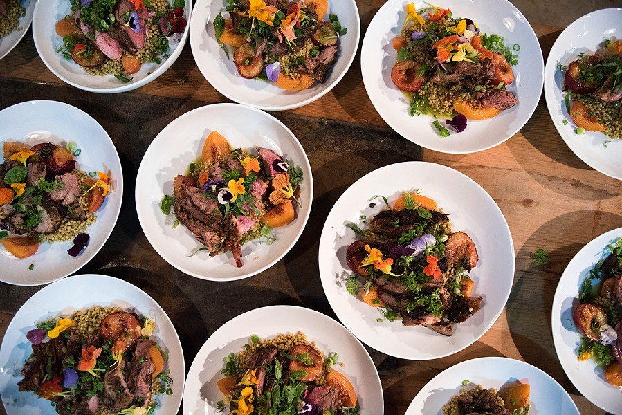 A Taste Talks dinner that took place earlier this month in Brooklyn, New York - LIZ CLAYMAN