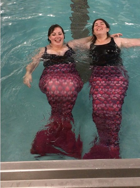 The authors as mermaids - NORA KAITIS
