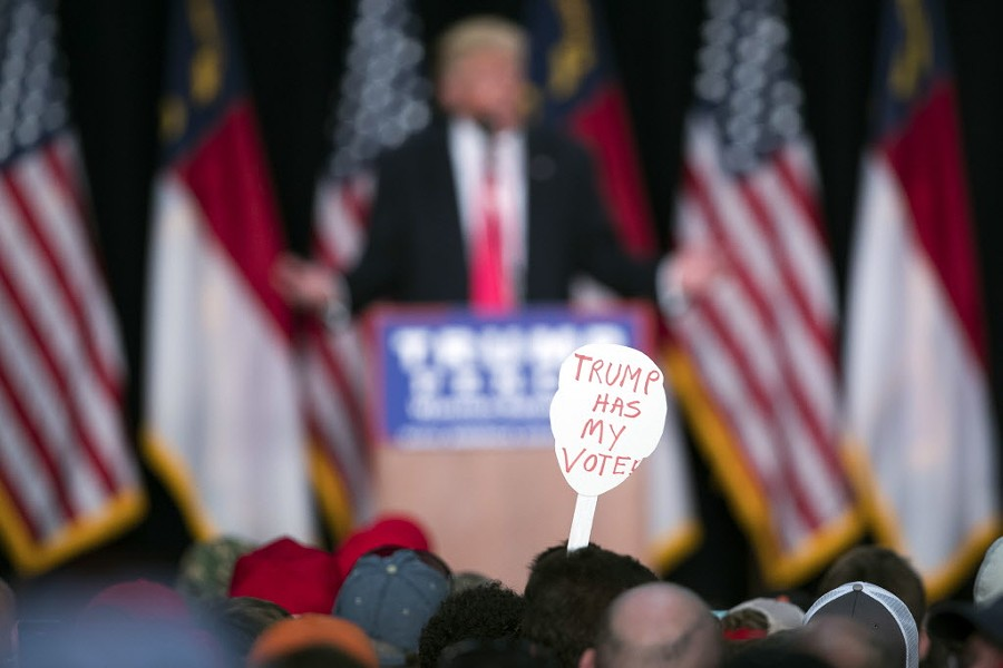 A Trump rally in Winston-Salem in January - AP PHOTO/EVAN VUCCI
