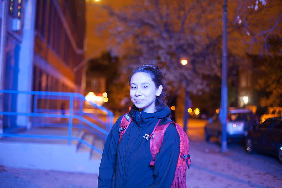 """First-time voter Giselle Gamboa at Farragut Academy in Little Village: """"I felt like an adult!"""" - DANIELLE A. SCRUGGS"""