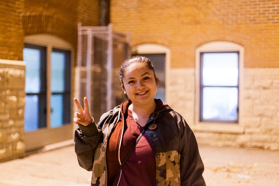 """Zahira Sandoval of Pilsen: """"I feel like [voting] is a dead end: all the candidates suck. It feels like we're screwed either way, that everything has been set up for us."""" - DANIELLE A. SCRUGGS"""