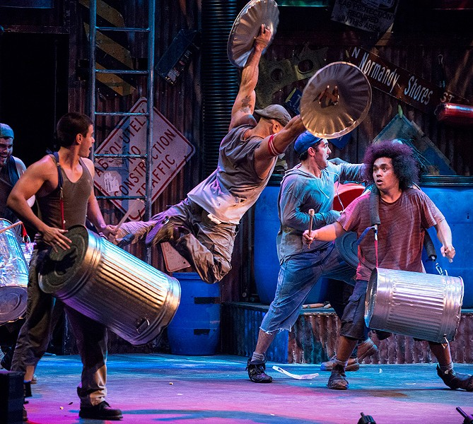 Stomp, at Broadway Playhouse - STEVE MCNICHOLAS
