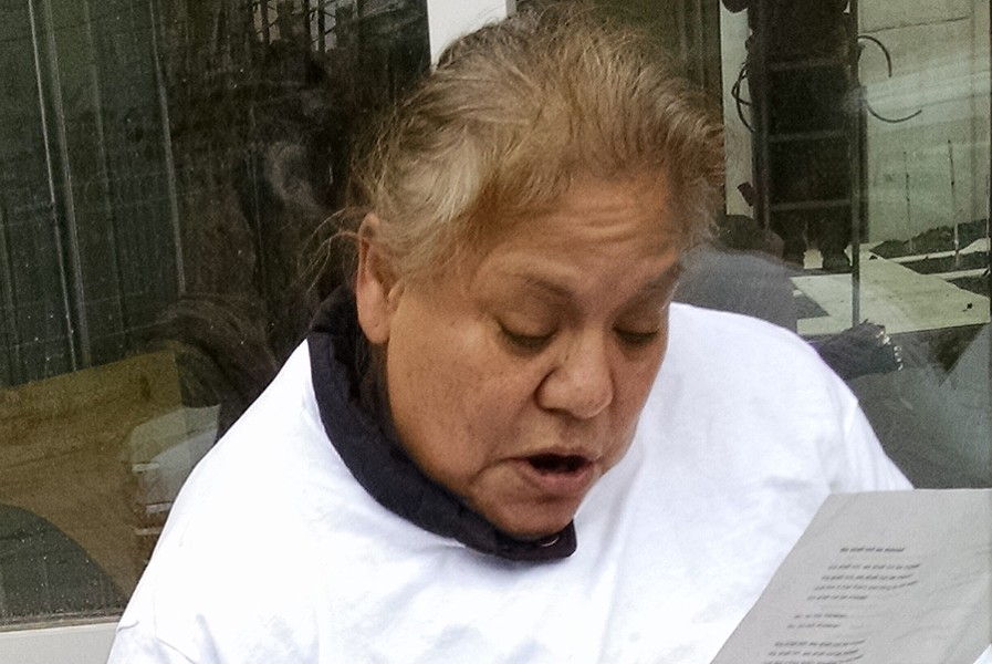 Rosalinda Hernandez was evicted from her West Town apartment in July. - MAYA DUKMASOVA