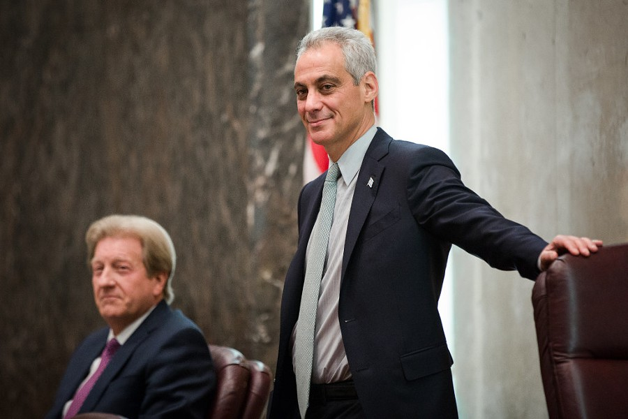 Mayor Rahm Emanuel at the Chicago City Council meeting on December 14 - SANTIAGO COVARRUBIAS/SUN-TIMES
