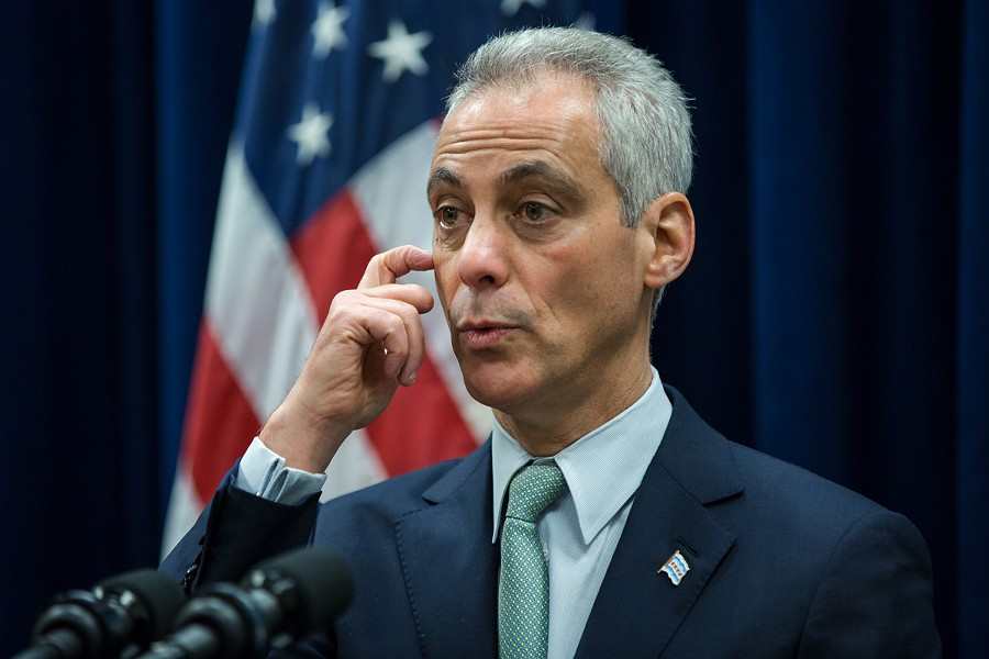 Mayor Rahm Emanuel during a press conference in mid-December - SANTIAGO COVARRUBIAS/SUN-TIMES MEDIA