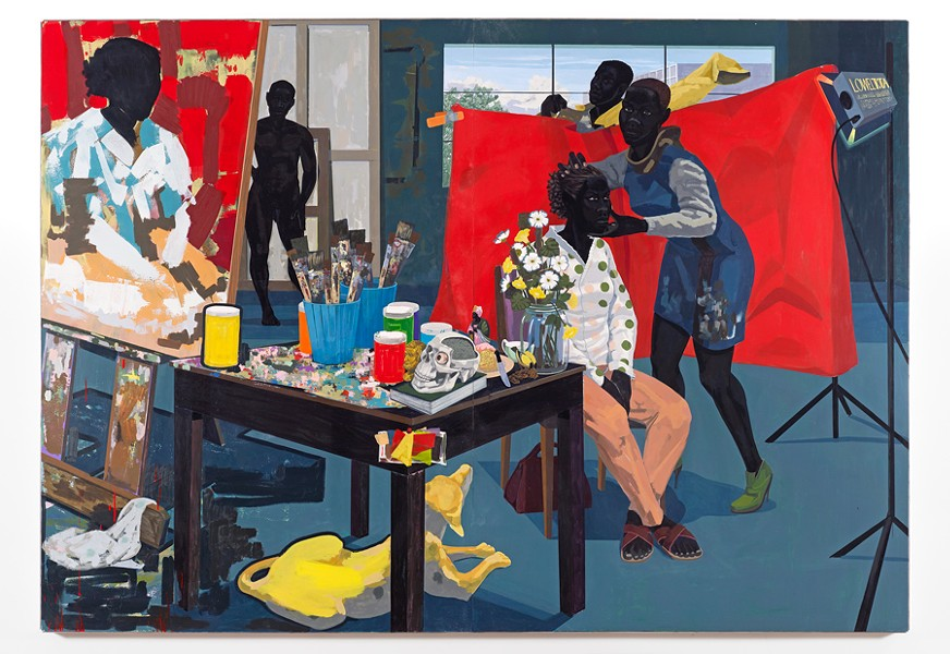 Kerry James Marshall, Untitled (Studio), 2014 - COURTESY THE ARTIST AND DAVID ZWIRNER