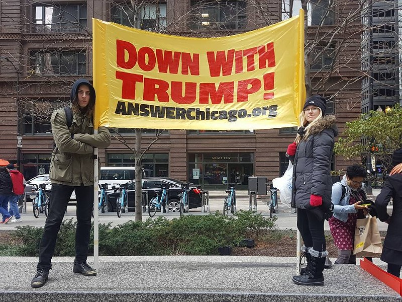ANSWER Chicago has led a number of local anti-Trump demonstrations. - ANSWER CHICAGO/FACEBOOK