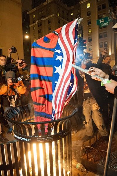 Photographers love a flag-burning photo op.