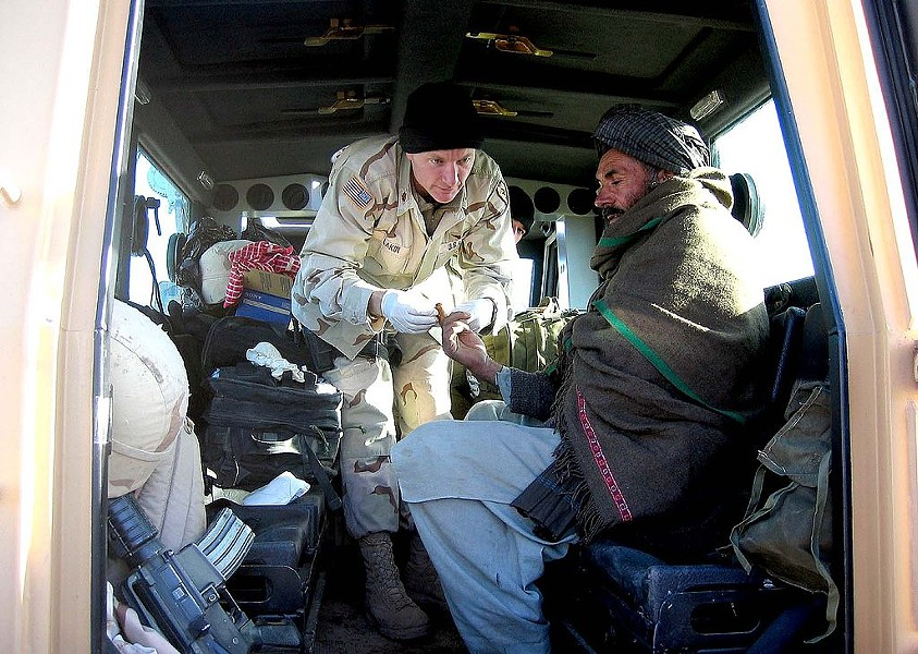 Terry Lakin, former army flight surgeon shown here in Afghanistan in 2004, was court-martialed in 2010. - U.S. ARMY PHOTOGRAPHER VIA WIKIMEDIA COMMONS