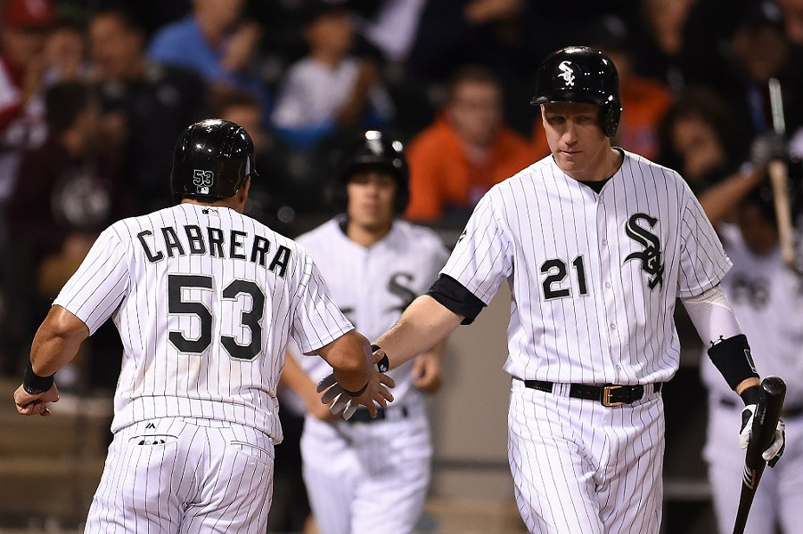 White Sox players Melky Cabrera and Todd Frazier in 2016 - PHOTO BY STACY REVERE/GETTY IMAGES