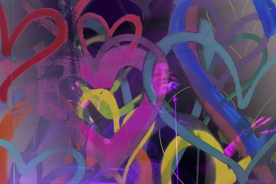 A double exposure of Noname performing at South by Southwest on Thursday, March 16 - BRITTANY SOWACKE