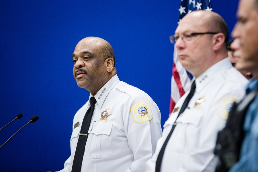 Chicago Police Department superintendent Eddie Johnson speaks during a press conference Sunday about a sexual assault streamed on Facebook Live. - SANTIAGO COVARRUBIAS/FOR THE SUN-TIMES