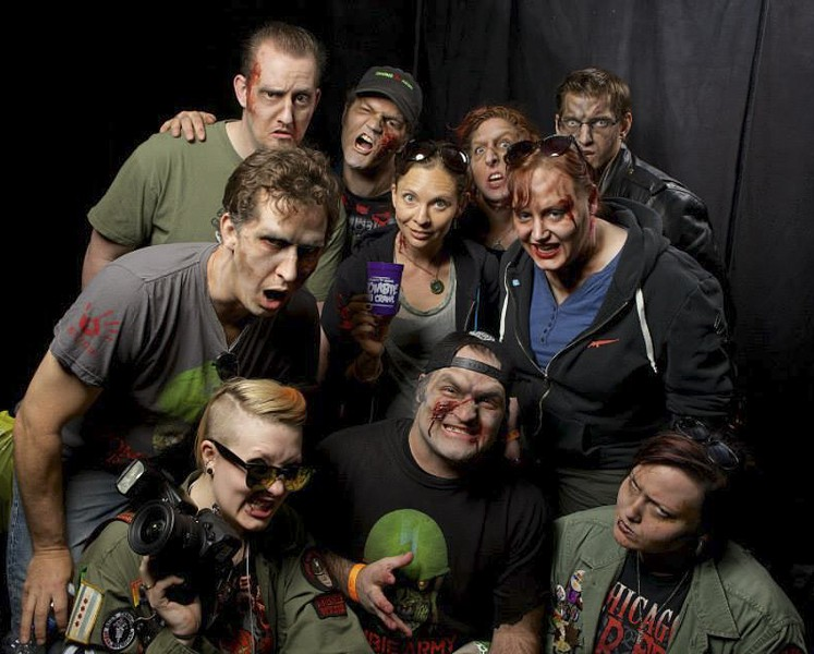 Dress in your undead best for the Chicago Zombie Pub Crawl on Sat 4/29. - GREG INDA