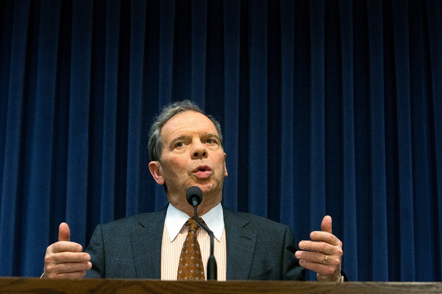 Illinois senate president John Cullerton speaks at a news conference in March. - RICH SAAL/THE STATE JOURNAL-REGISTER VIA AP