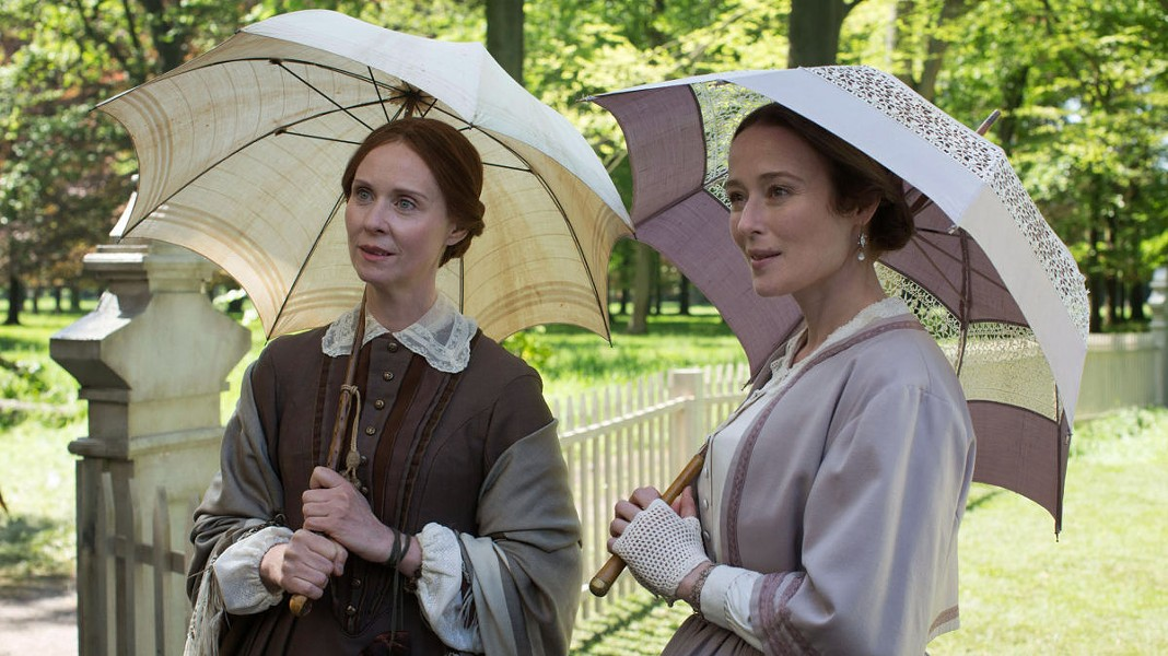 Cynthia Nixon (left) plays Emily Dickinson in A Quiet Passion