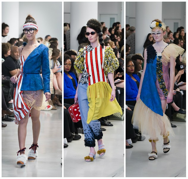 Dayra Cardoze's collection for the SAIC Fashion Show 2017 - JIM PRINZ FOR THE SCHOOL OF THE ART INSTITUTE OF CHICAGO