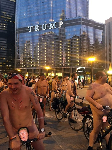 We're all glad Donald Trump (presumably) isn't participating in the World Naked Bike Ride on Sat 6/10. - STEVEN LANE