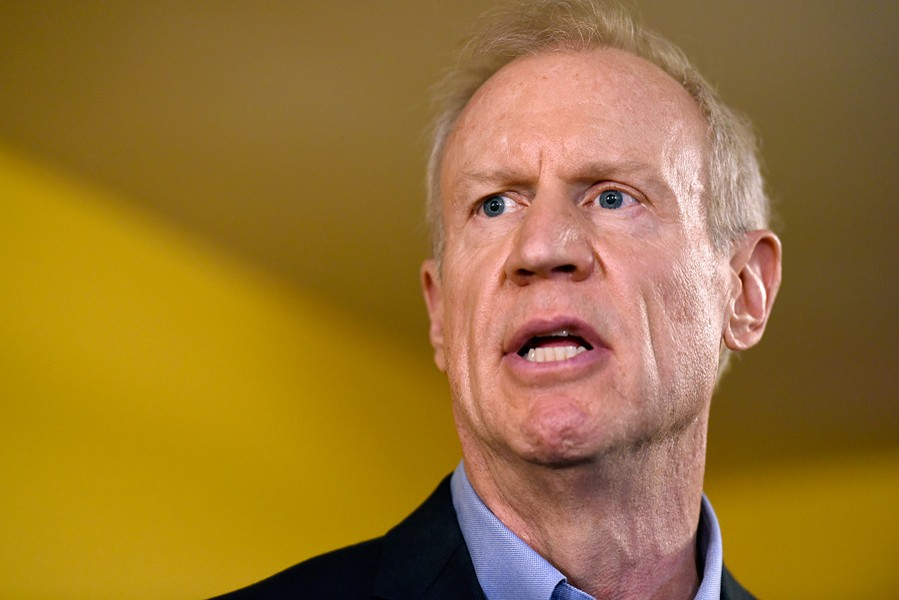 Democrats either have to figure a way to defuse Rauner's anti-tax rhetoric or Illinois is in for another four years of his lunacy. - G-JUN YAM/AP PHOTOS