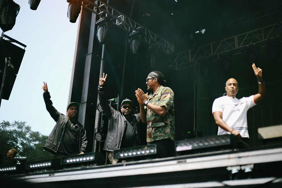 Consequence, Jarobi White, Q-Tip, and Ali Shaheed Muhammad greet their fans. - ZAKKIYYAH NAJEEBAH