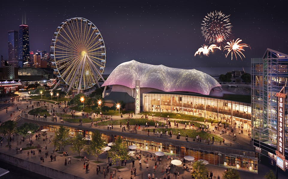 Rendering of the renovated Navy Pier. An investigation by Crain's and the Better Government Association reveals that $55 million in TIF funds were diverted to the top tourist destination instead of going to a blighted neighborhood. Officials responded by saying there was no fiscal impropriety involved in the transaction. - ADRIAN SMITH + GORDON GILL ARCHITECTURE