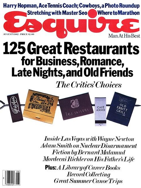 """""""Fifteen"""" appears in the August 1982 issue of Esquire"""